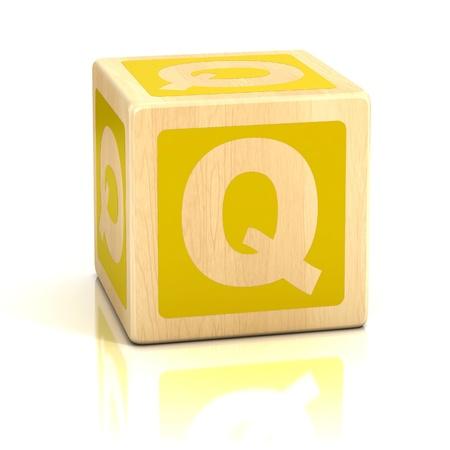 q: lettera q alfabeto cubi di carattere Archivio Fotografico