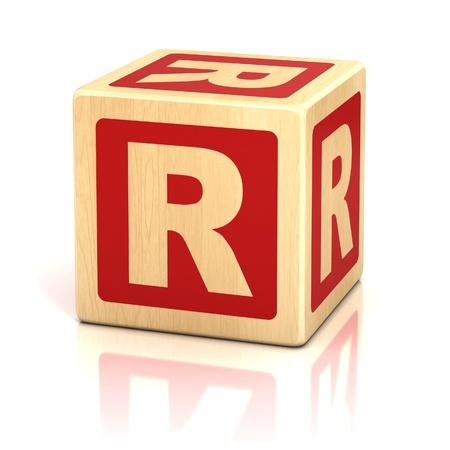 r: letter r alphabet cubes font