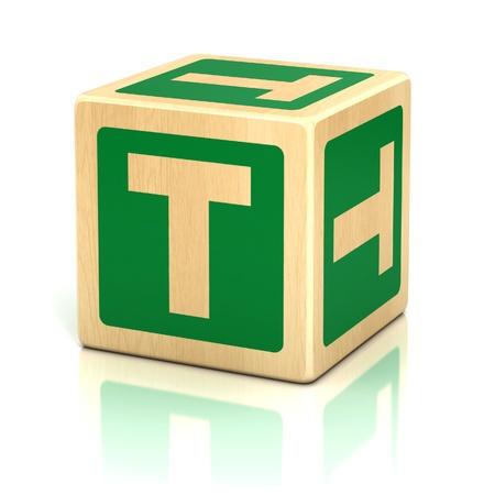 abstract 3d blocks: letter t alphabet cubes font