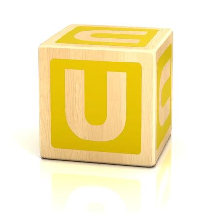 letter u alphabet cubes font Stock Photo - 19775849