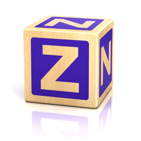 block letters: letter z alphabet cubes font Stock Photo