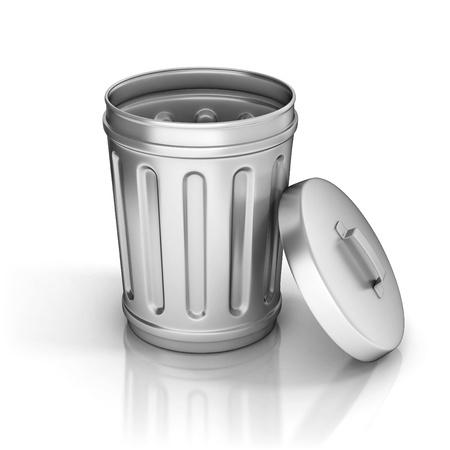 dumping: Trash can