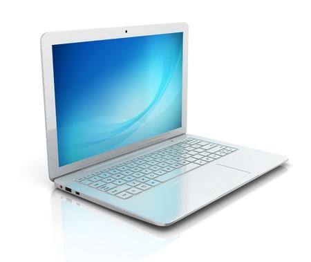 ultrabook: laptop notebook ultrabook isolated