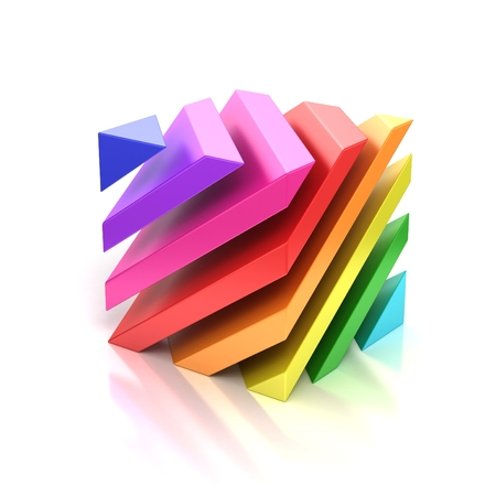 layers levels: abstract colorful cube