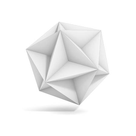 the polyhedron: abstract geometric 3d object, more polyhedron variations in this set Stock Photo