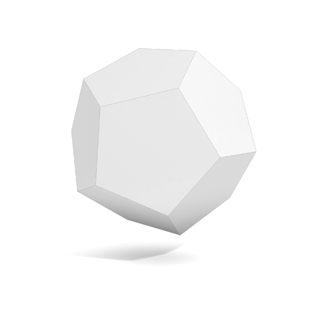 polyhedron: abstract geometric 3d object, more polyhedron variations in this set Stock Photo
