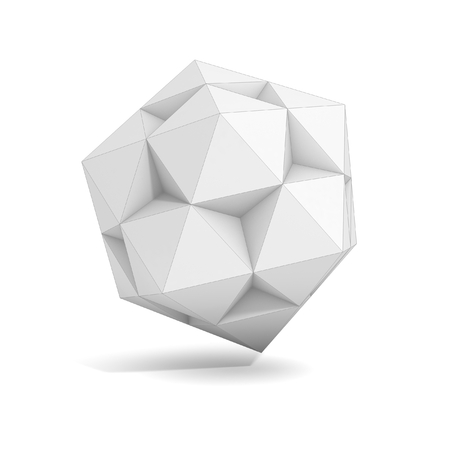 abstract geometric 3d object, more polyhedron variations in this set photo