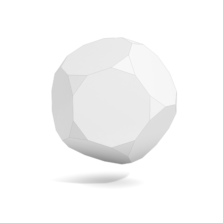 hexahedron: abstract geometric 3d object, more polyhedron variations in this set Stock Photo