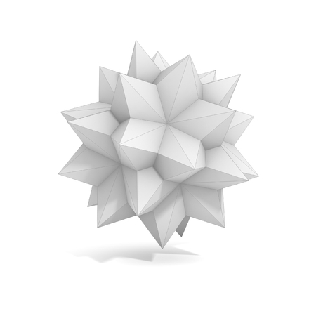 3d dimensional: abstract geometric 3d object, more polyhedron variations in this set Stock Photo