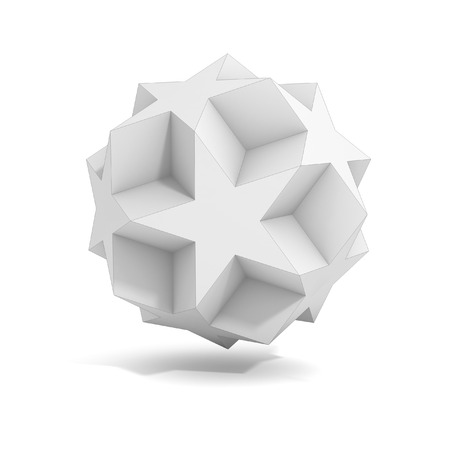 tetrahedron: abstract geometric 3d object, more polyhedron variations in this set Stock Photo