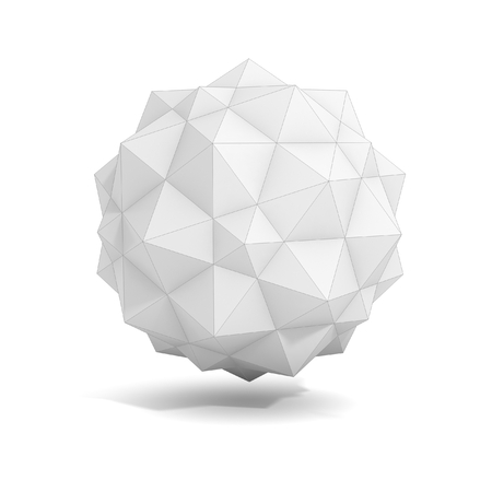 icosahedron: abstract geometric 3d object, more polyhedron variations in this set Stock Photo