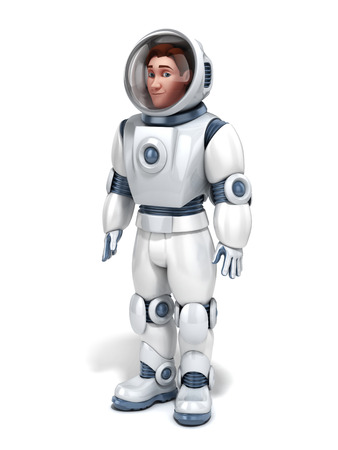 astronaut 3d illustration illustration