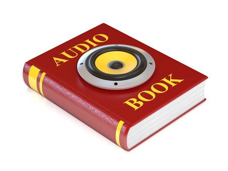 audio book: audio book 3d illustration