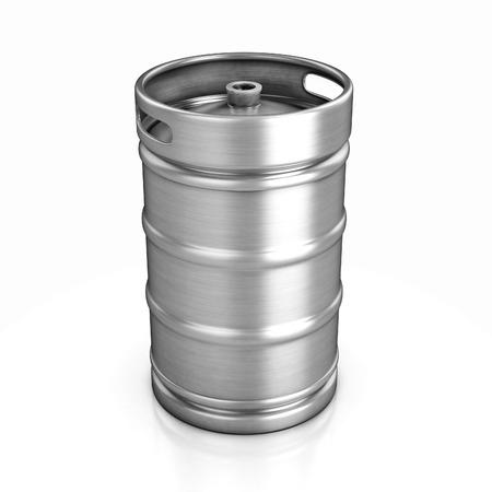 keg: beer keg isolated on white