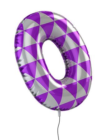 abecedario: n�mero 0 globo 3d ilustraci�n Foto de archivo