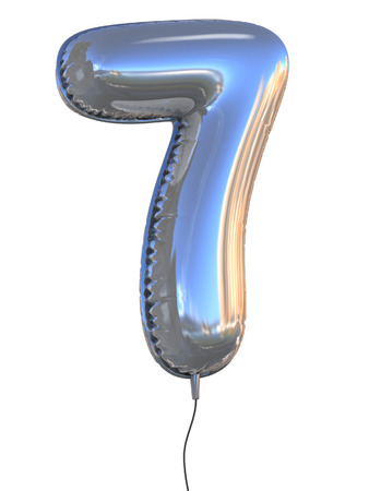 numbers: number 7 balloon 3d illustration Stock Photo