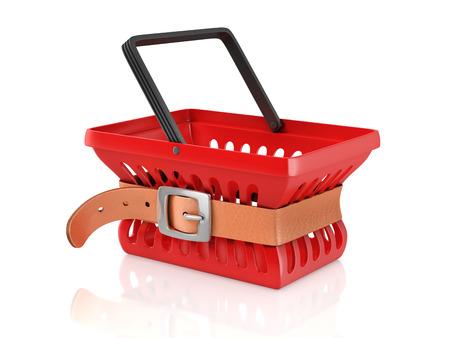 shopping basket with tighten belt photo