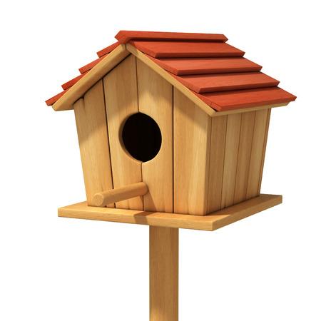 bird house 3d illustration illustration