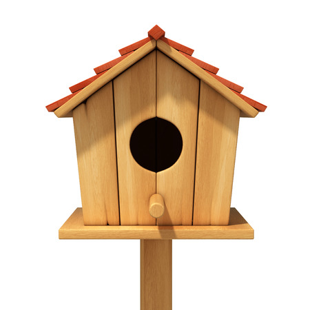 bird house 3d illustration illustration