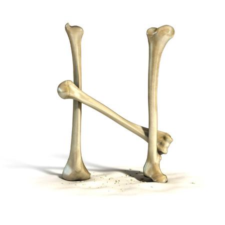bones font letter N
