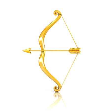golden bow and arrow photo