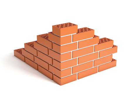 cement pile: building the brick wall
