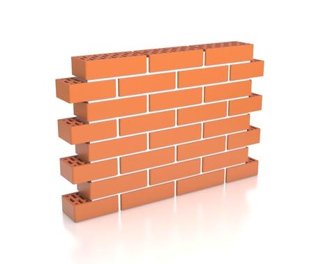 Bakstenen muur 3d illustratie Stockfoto - 37170682
