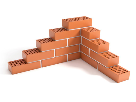 building the brick wall photo