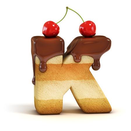 cake 3d font letter K Reklamní fotografie