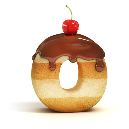 cakes background: cake 3d font letter O