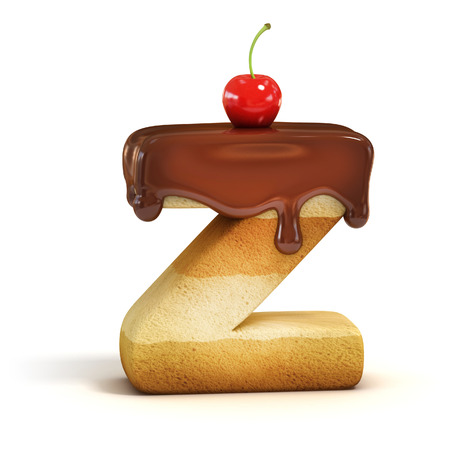 letter z: cake 3d font letter Z Stock Photo