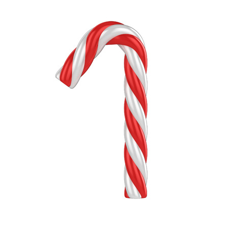 candy stripe: christmas candy cane 3d font - number 1