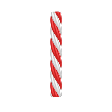 christmas candy cane font - letter i Stock Photo