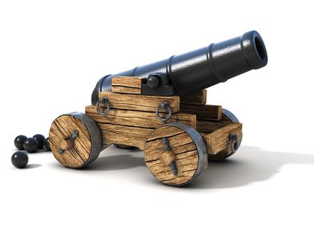 kanon op een witte achtergrond