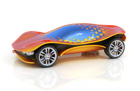 futuristic car 3d concept