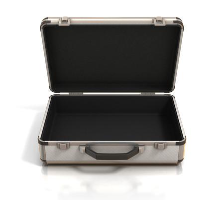 prázdný otevřený kufr Reklamní fotografie
