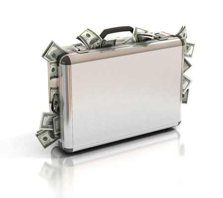 briefcase full of money photo