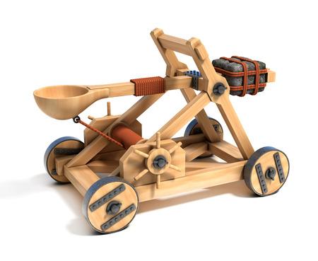catapult 3d illustration