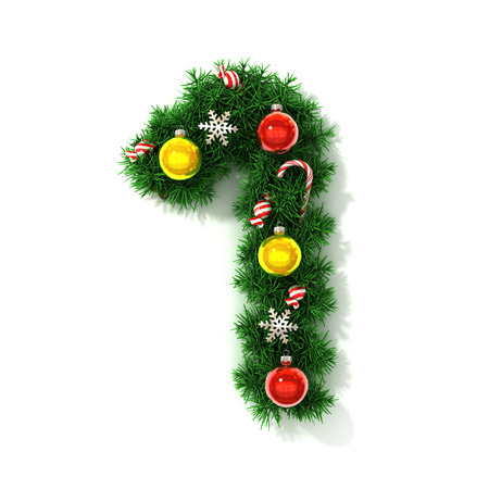 Christmas tree font number 1 photo
