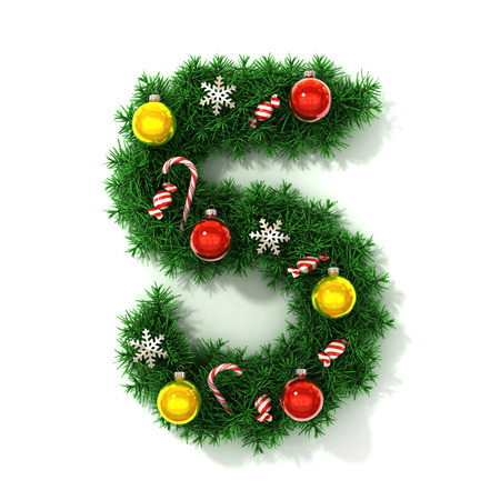 Christmas tree font number 5 photo