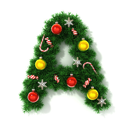 Christmas font letter A