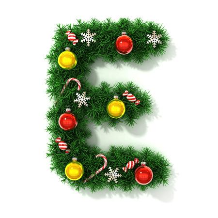 Christmas font letter E photo