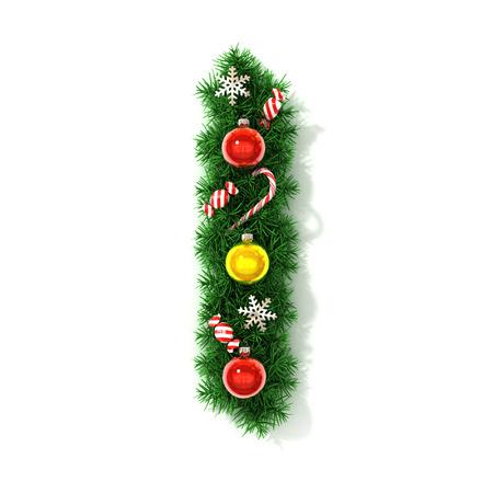 concepts alphabet: Christmas font letter I Stock Photo