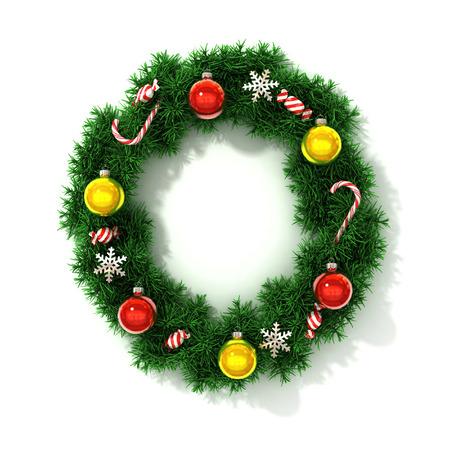 concepts alphabet: Christmas font letter O