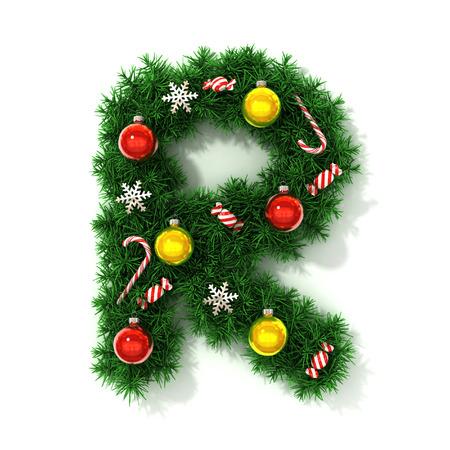 concepts alphabet: Christmas font letter R