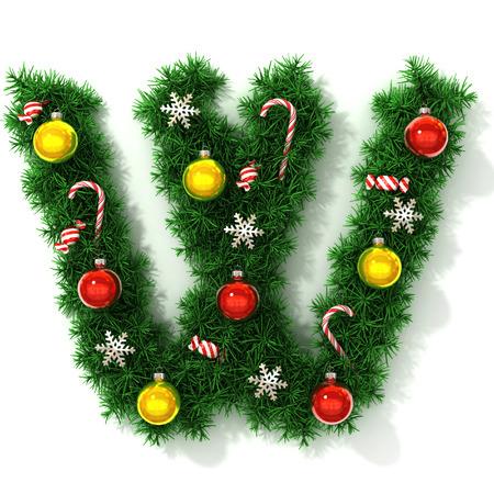concepts alphabet: Christmas font letter W