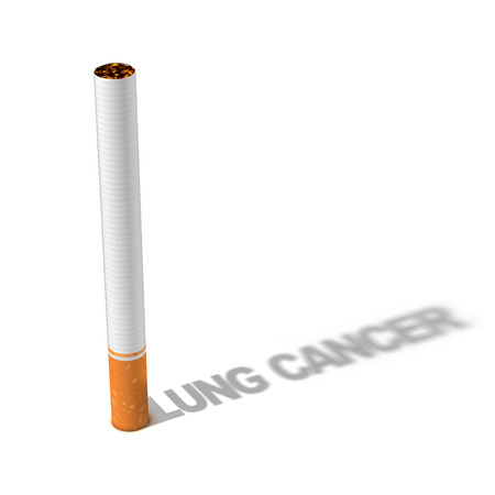 lung cancer: cigarette lung cancer 3d concept