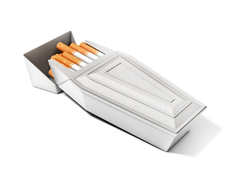 the kills: pack of cigarettes as funeral coffin  smoking kills  3d