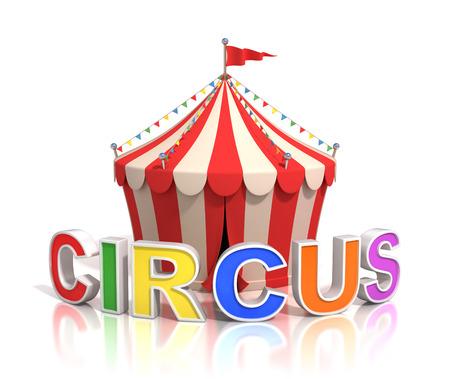 circus arena: circus tent 3d illustration Stock Photo