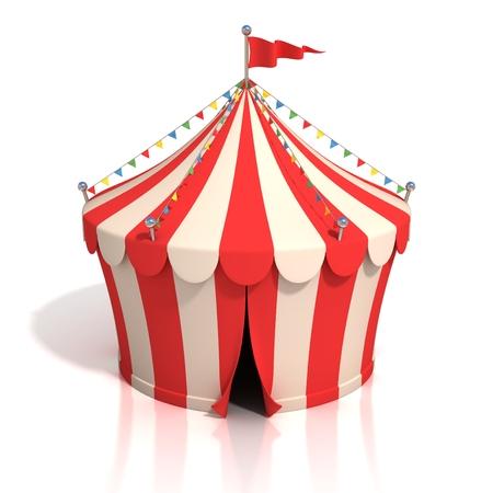 cartoon circus: circus tent 3d illustration Stock Photo